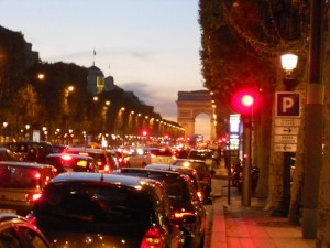 Champs-Elysee at dusk