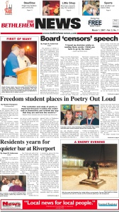 Front Page: The Bethlehem News