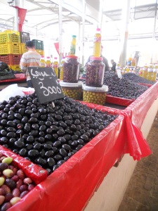 Olives at the market in Tunis