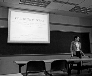 Me at my thesis defense in May. Photo by Joan Zachary.