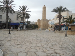 Approaching the mosque in Sousse