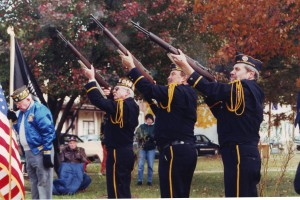 Gun salute at veterans event