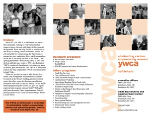 Brochure: Two color trifold, YWCA, some photography also mine