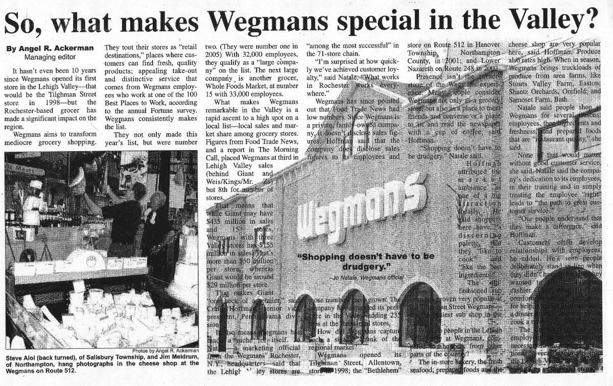 Wegmans essay