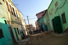 Street scene near market